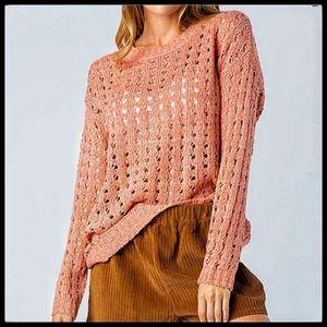 Eyelit Sweater, Coral, Gorgeous! NWT